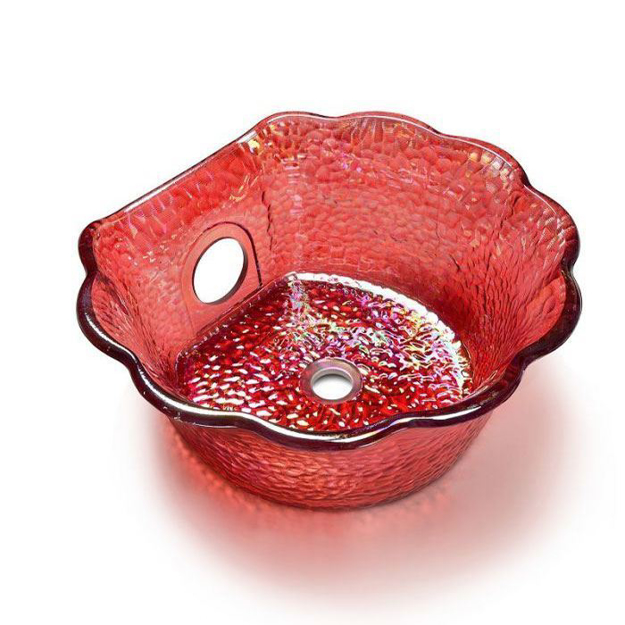 Ruby Scallop Bowl For ANS Pedicure Chairs