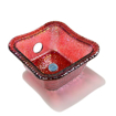 Ruby Square Glass Bowl For ANS Pedicure Chairs