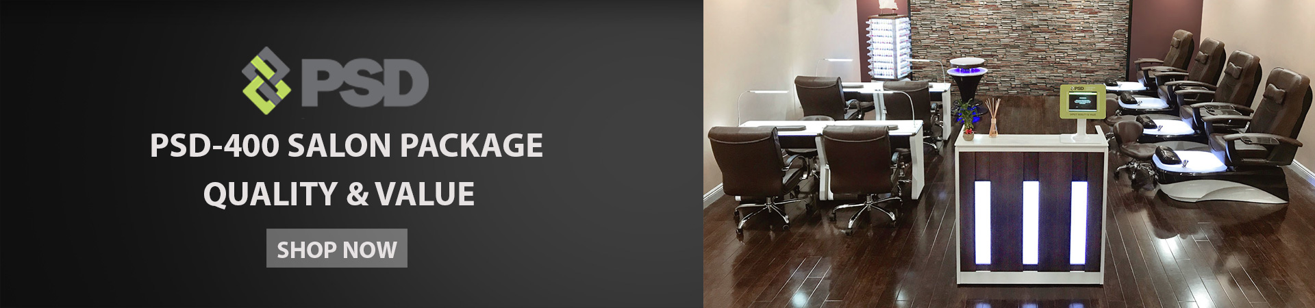 PSD-400 pedicure chair package banner