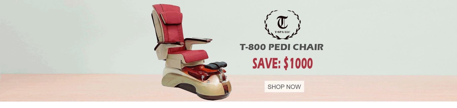 T800 pedicure chair banner