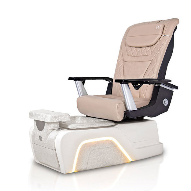 Titan pedicure chair with khaki T-Timeless massage chair