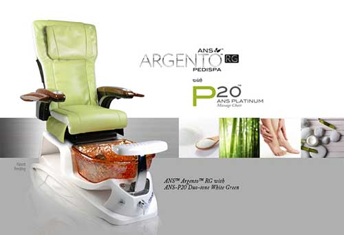 Argento pedicure chair brochure
