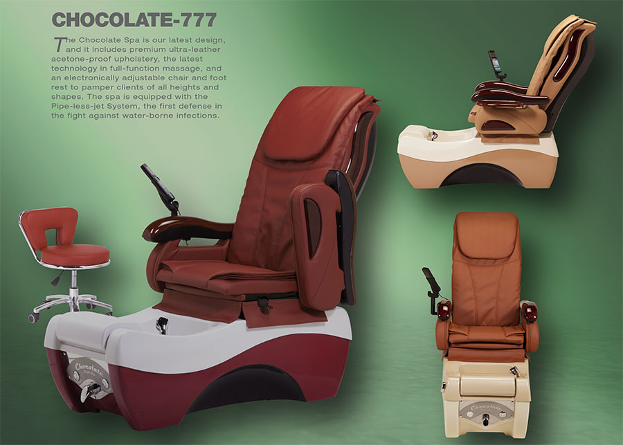 Chocolate 777 pedicure chair banner