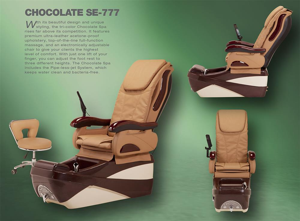 Chocolate SE pedicure chair banner